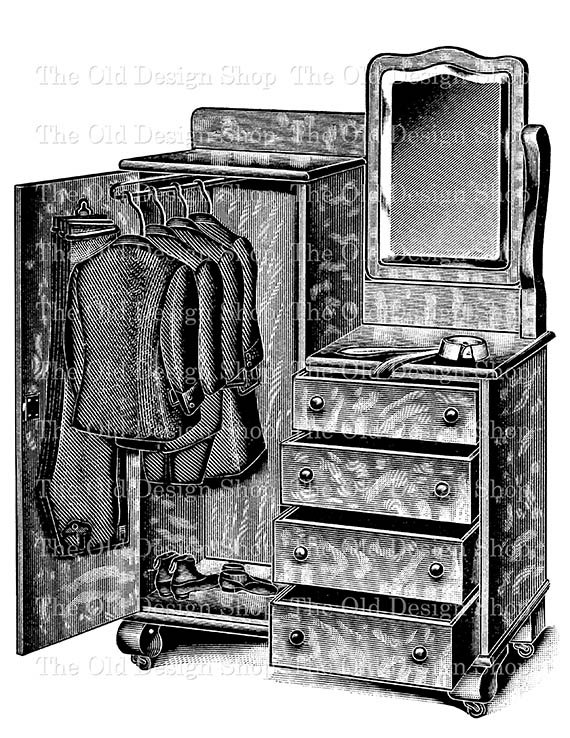 graphic black and white download Vintage closet wardrobe clip. Dresser clipart cuboard.