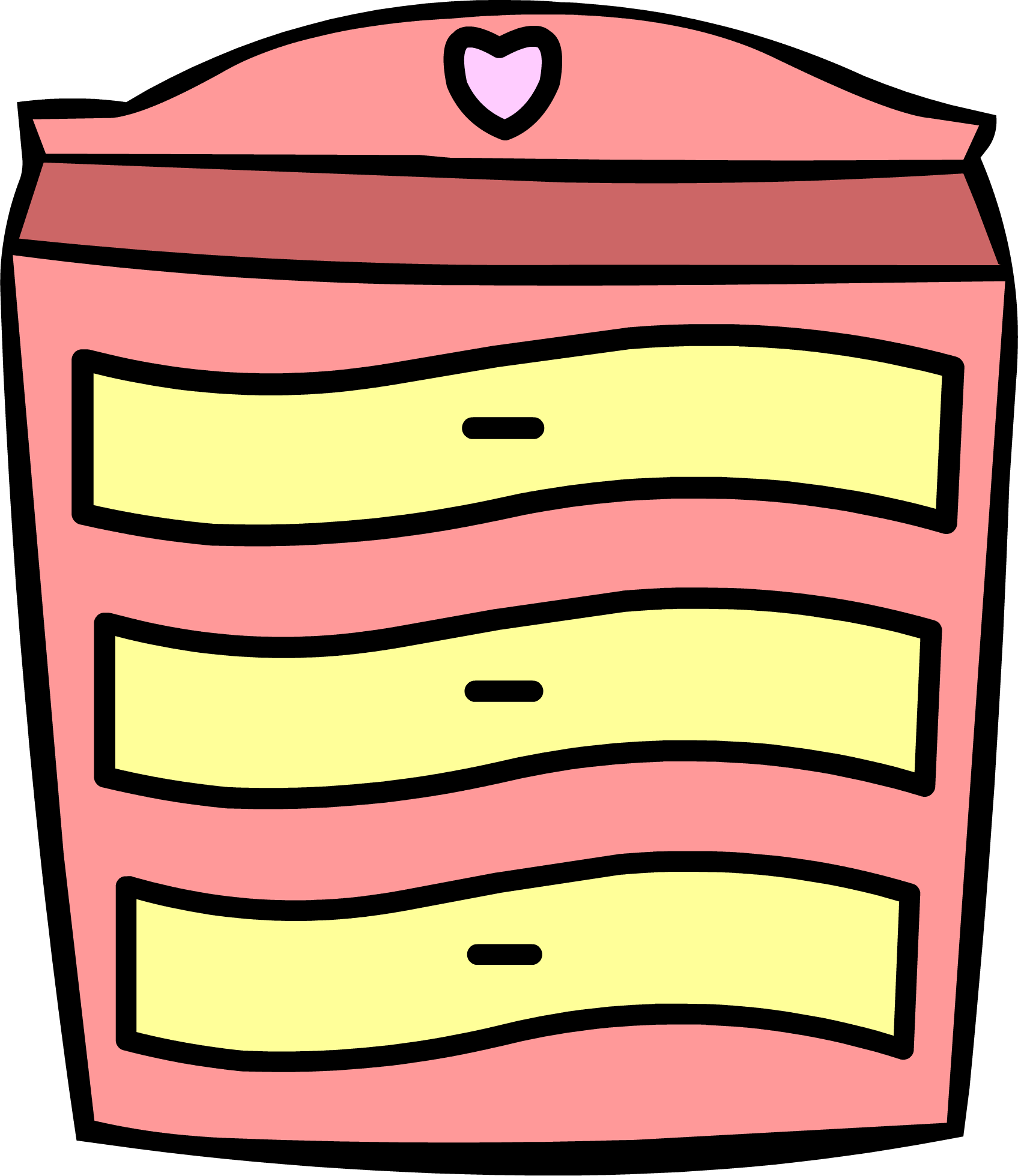 png royalty free stock Pink Dresser
