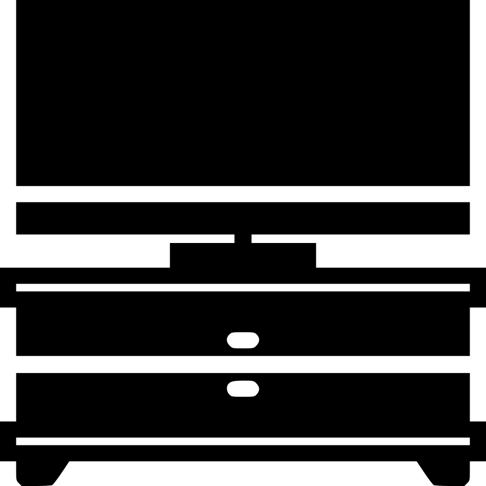 jpg library library Tv Stand Svg Png Icon Free Download