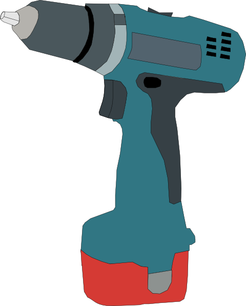 clipart free download Electric Drill Battery Powered Clip Art at Clker