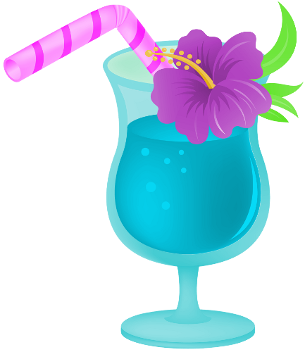 clipart black and white Drink clipart. Clip art hawaiian tropical