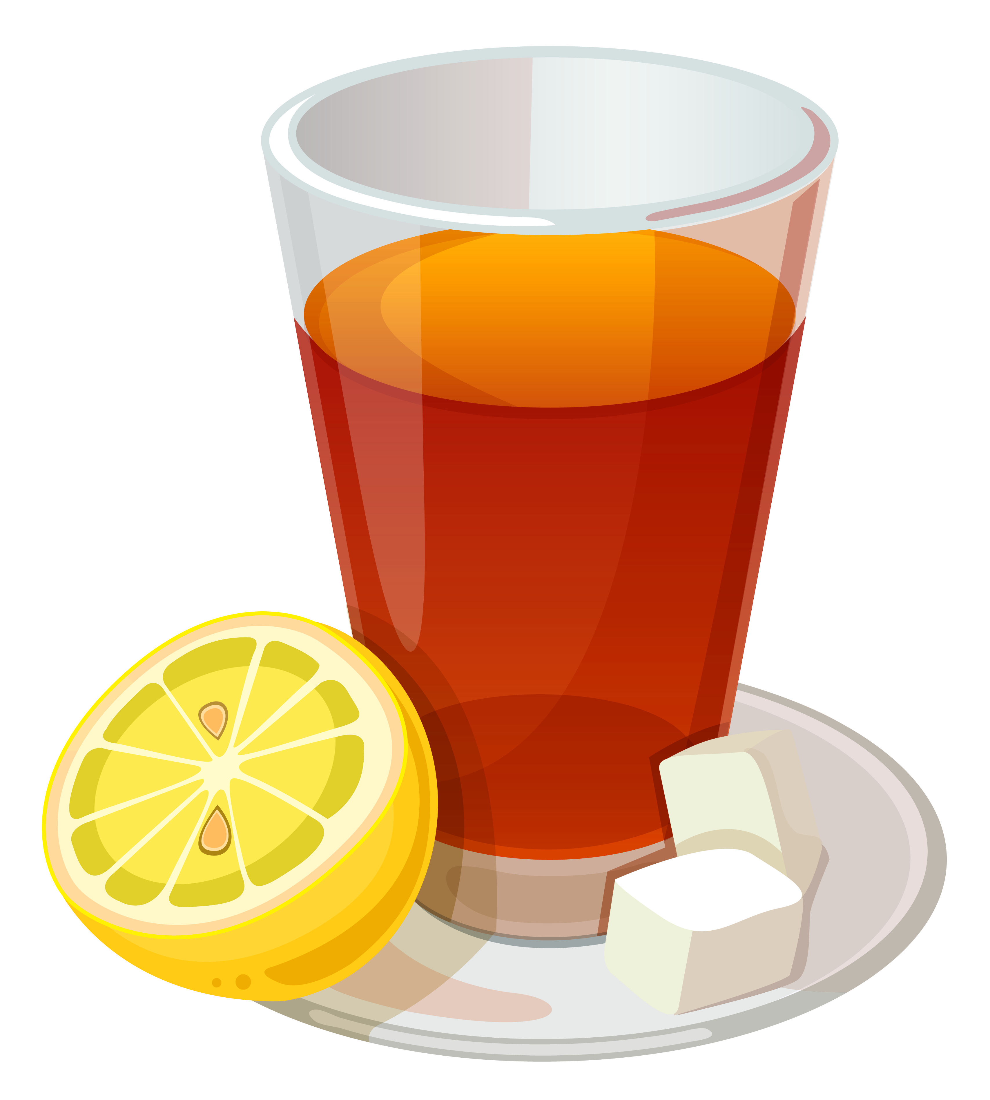 banner download Cup of Tea and Lemon PNG Vector Clipart Picture