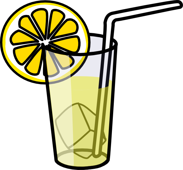 transparent stock Lemonade clipart black and white. Glass clip art at