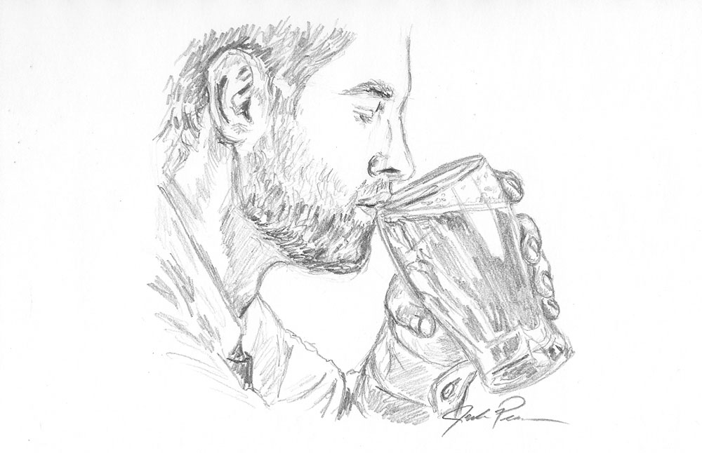 banner freeuse library How to sketch a. Drinking drawing