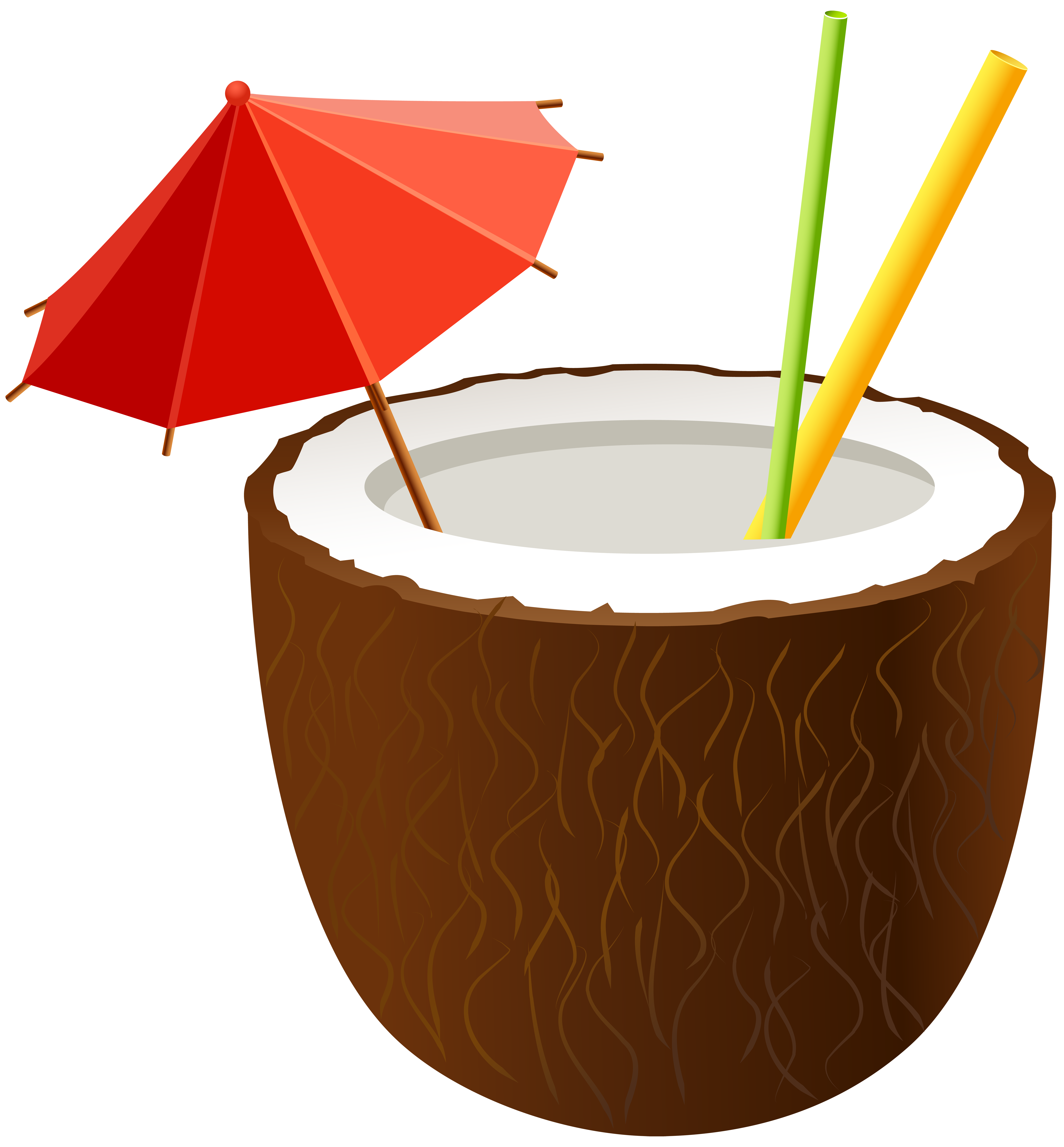 vector royalty free Coconut Cocktail PNG Clip Art Image