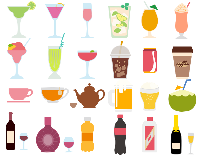 svg transparent stock Drinks clipart. Best vector drink and.