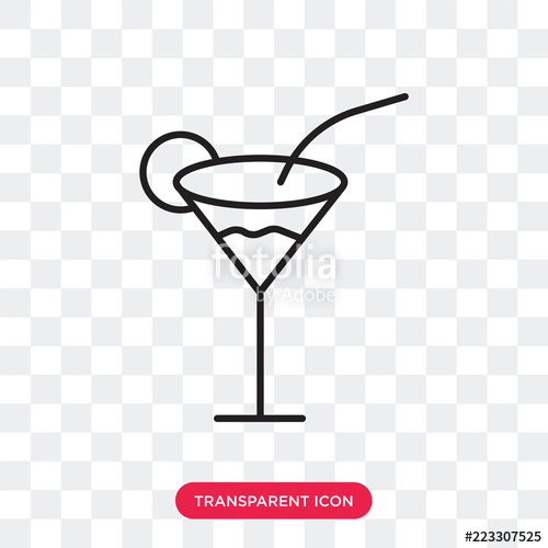 graphic black and white library Icon isolated on transparent. Drinks vector