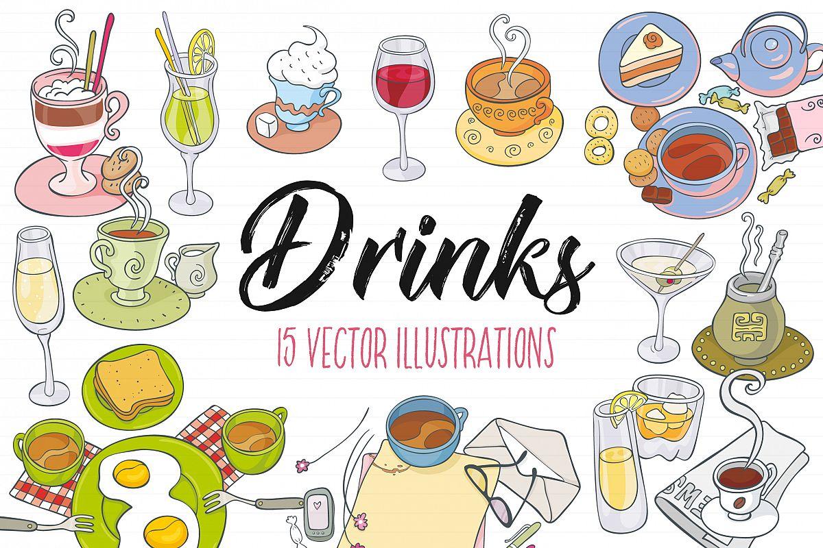 jpg Drinks vector. Illustrations