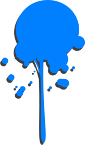 png royalty free stock Blue Paint Drip Clip Art at Clker
