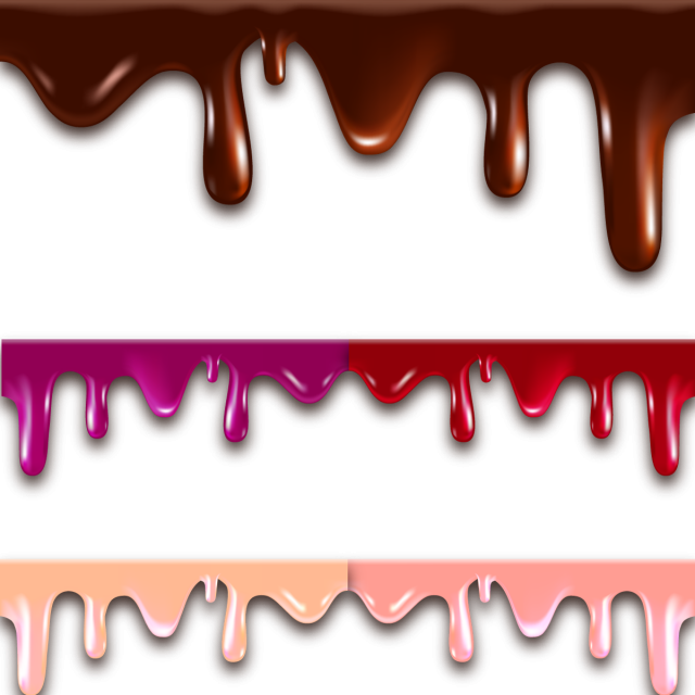 image library library Melted Flowing Chocolate Drips Border