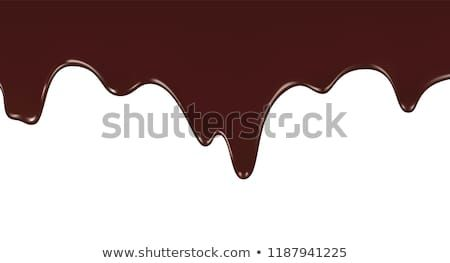 clipart library download Melted chocolate dripping on white background