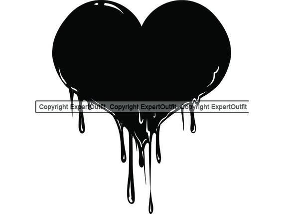 jpg black and white Blood Bloody Heart Love Relationship Murder Injury Hurt Pain Drop Drip  Horror Design Element Logo