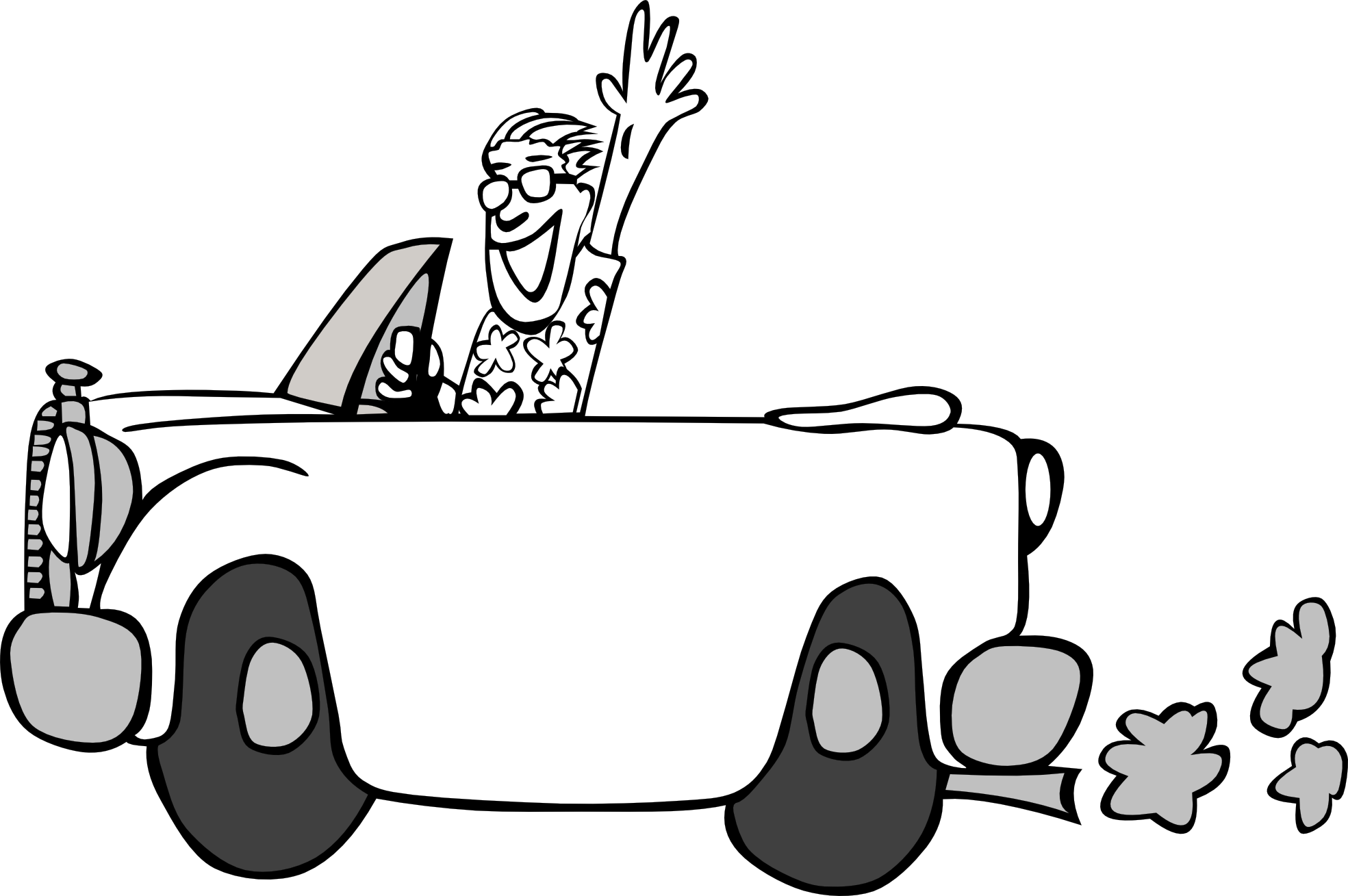picture transparent download Driving . Race car black and white clipart
