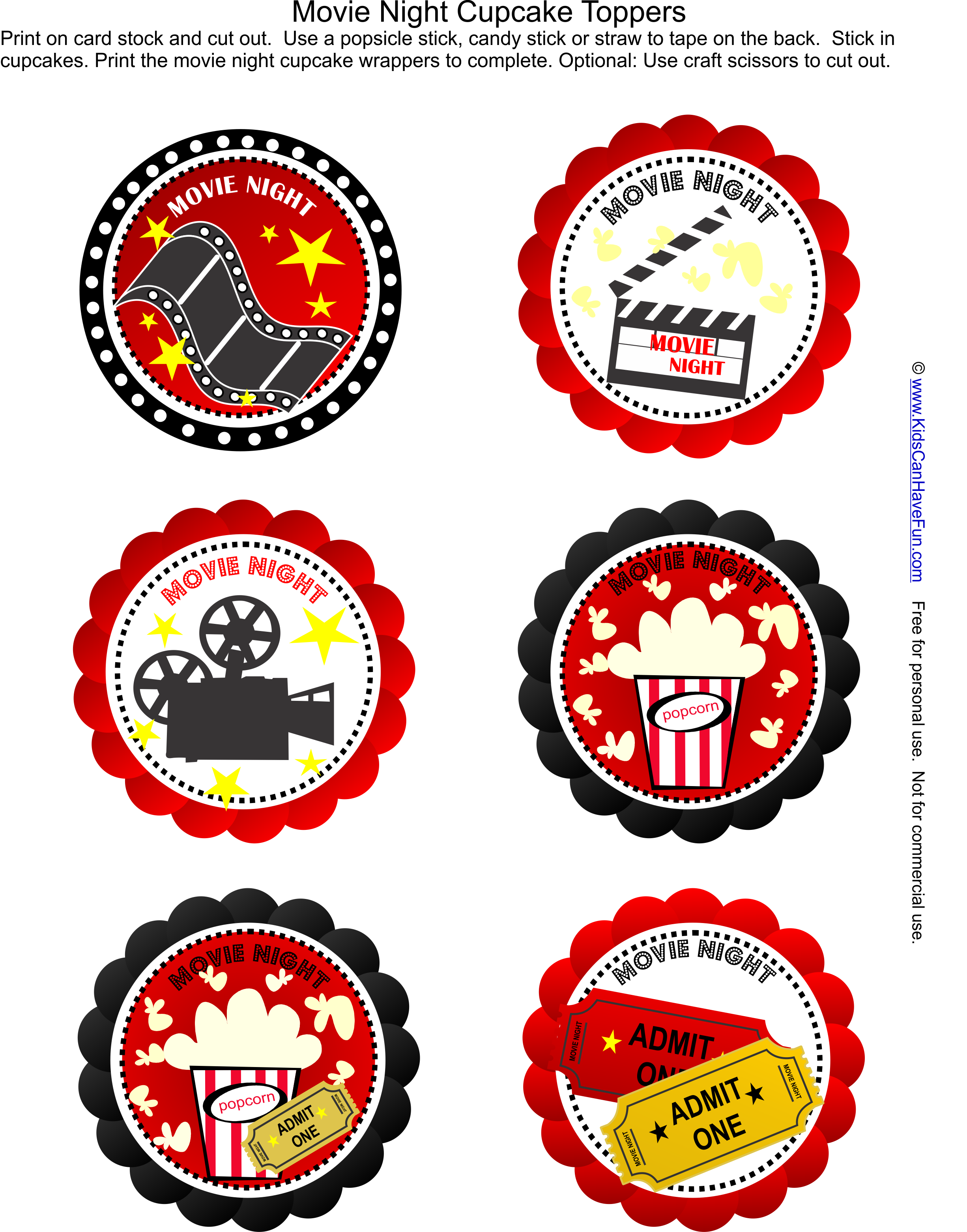 picture freeuse Free night party cupcake. Drive in movie clipart.