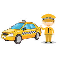 banner black and white library Driver clipart. Taxi new york free