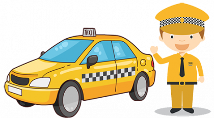 graphic free stock Driver cartoon free on. Taxi clipart cute