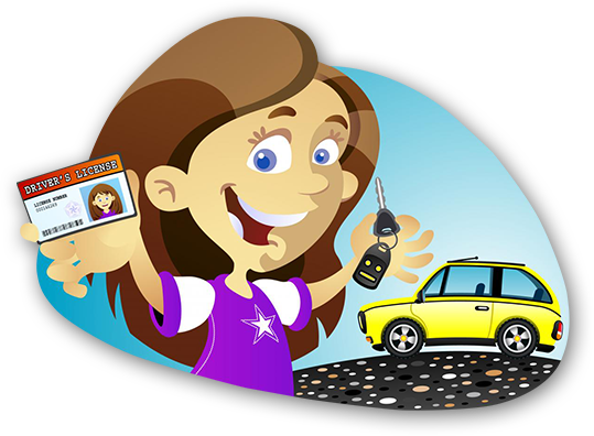 svg royalty free download Driving lesson free on. Drivers license clipart.
