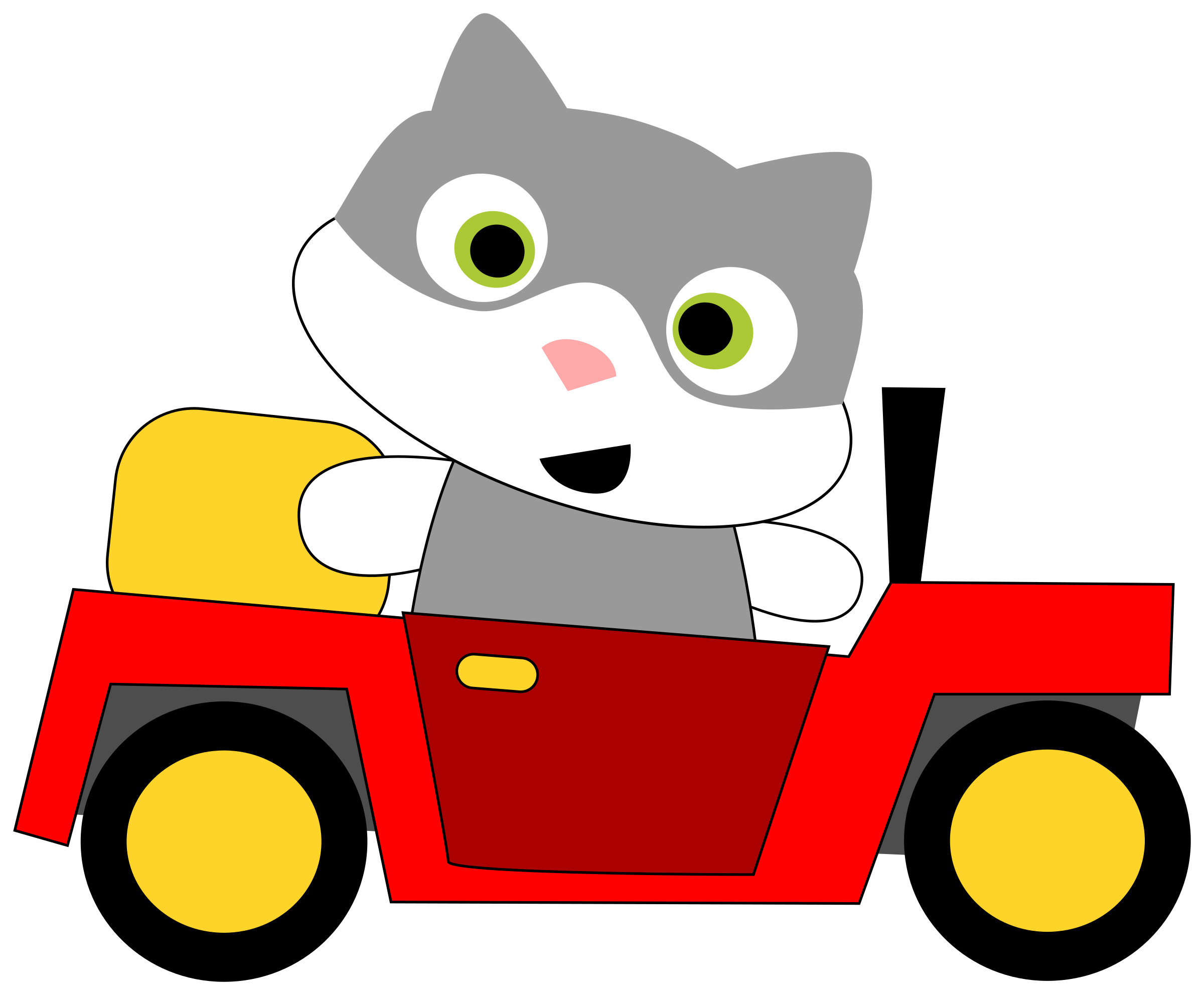 jpg freeuse download Drivers license clipart. A cat driving car