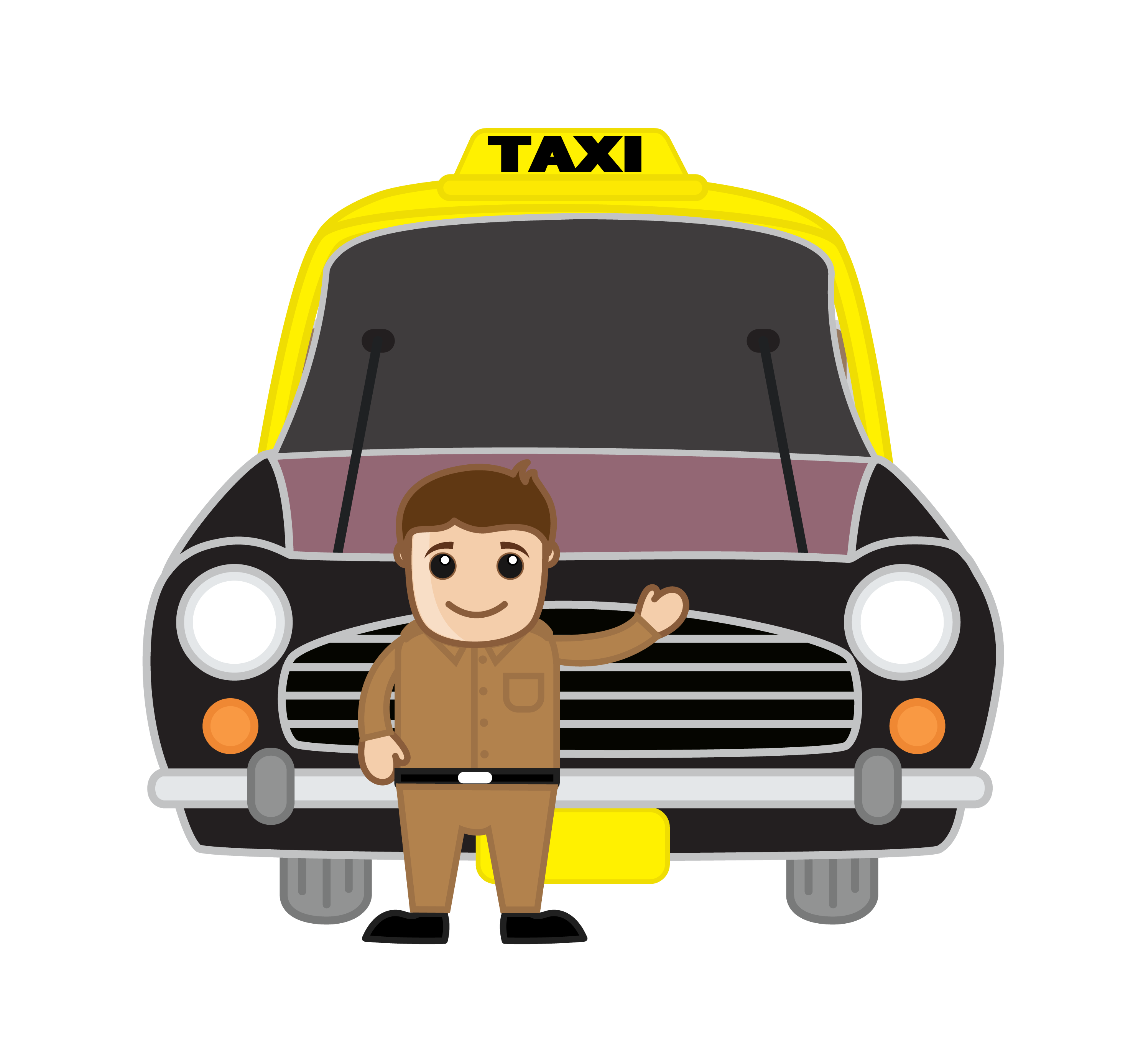 clip art royalty free library Taxi drawing school. India driver cartoon transprent.