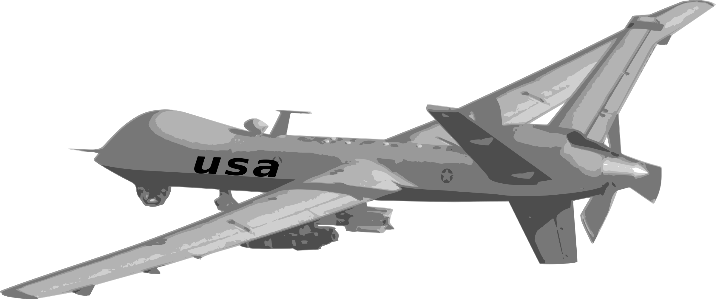 png black and white Collection of free Droned clipart predator drone