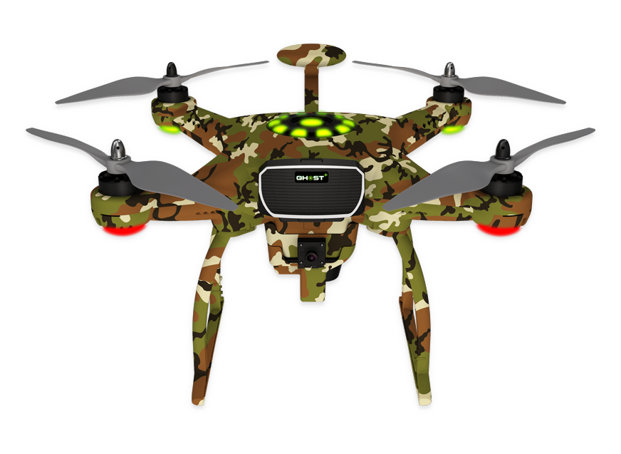 banner freeuse stock Fishing master quad rotor. Drone clipart remote control airplane