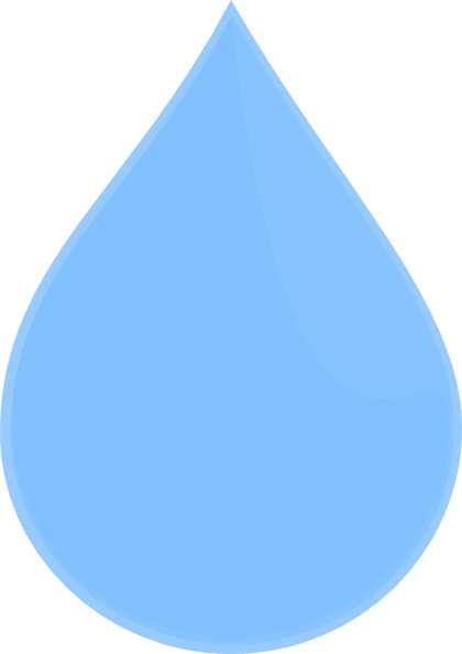 vector Drop clipart. Water blue free on