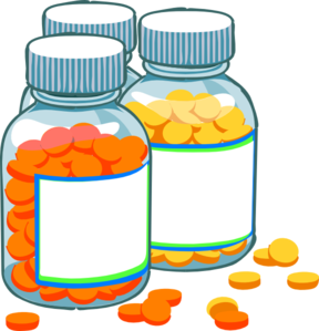 graphic transparent stock Blank medicine bottles clip. Medication clipart cute.