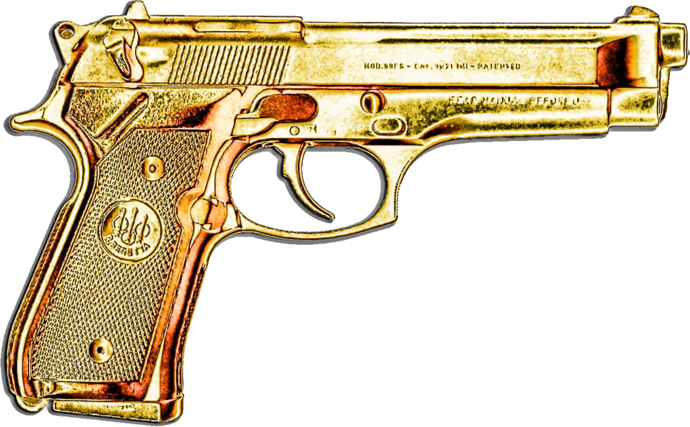 graphic black and white download Image result for gold gun