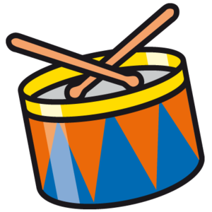 picture royalty free library Drum Free Clipart