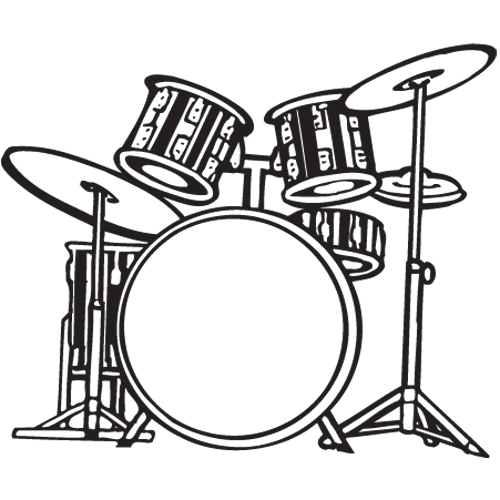 transparent library Drum Set PNG Black And White Transparent Drum Set Black And White