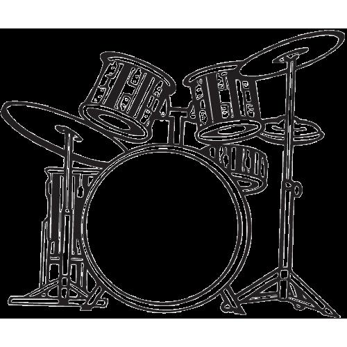 svg transparent library Drum Set PNG Black And White Transparent Drum Set Black And White