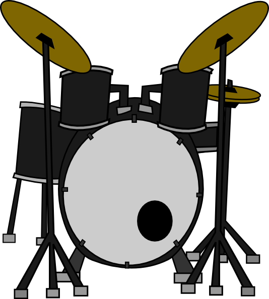 clipart free Marcelomotta drums clip art. Vector bands drummer