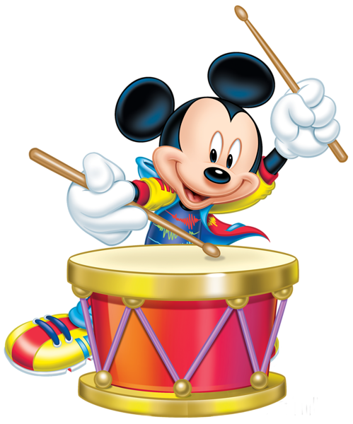 graphic freeuse Mickey mouse with drum. Marching clipart transparent background.