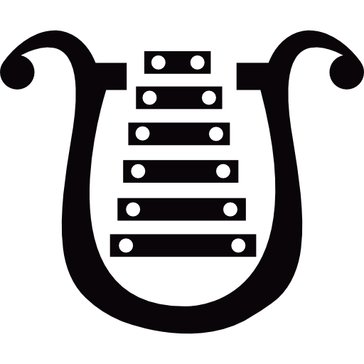 banner black and white library Bell lyre