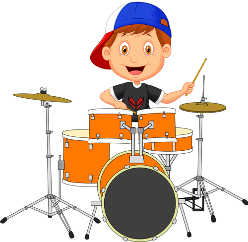 picture royalty free Music clipart drum. Personnages illustration individu personne.