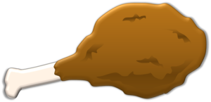 clipart royalty free download Fried Chicken Leg