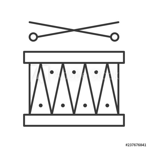 jpg library library Drum with icon amusement. Drumsticks vector.