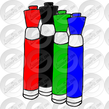 banner library library Markers picture for classroom. Dry erase marker clipart