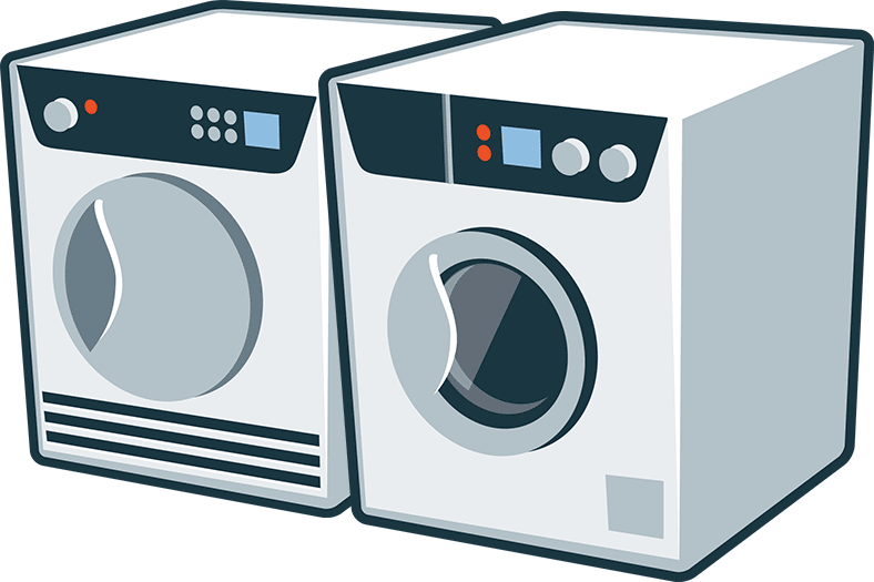 banner black and white stock Washers