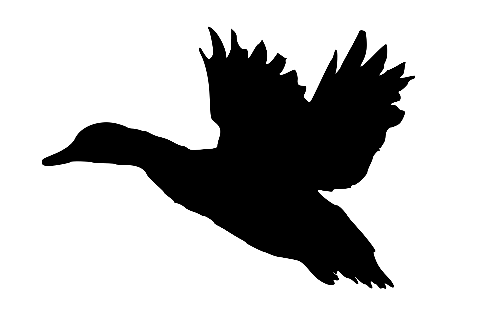 free download Duck Landing Silhouette at GetDrawings