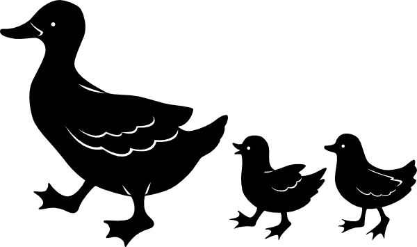 vector freeuse Baby Duck Silhouette at GetDrawings