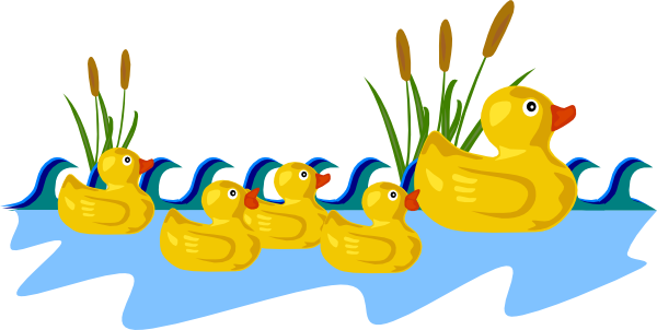 graphic free stock Duck Pond Clip Art at Clker