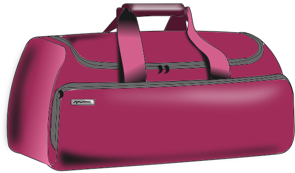 graphic transparent stock Duffle Bag Clipart