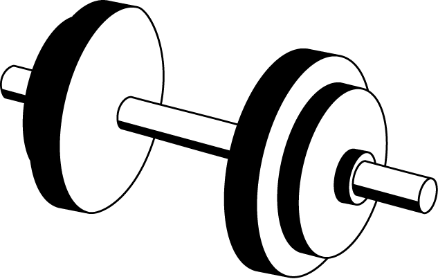 graphic free stock Dumbbell Clipart