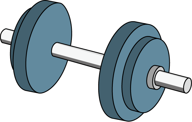 vector black and white stock Free Dumbbell Cliparts