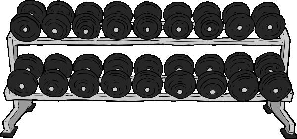 vector free Dumbbell Rack Clip Art at Clker