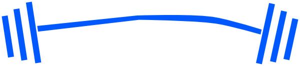clip art black and white stock Blue Barbell Dumbbell Clip Art at Clker