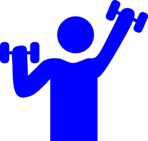 picture library stock Gym clipart gym time. Blue clip art at