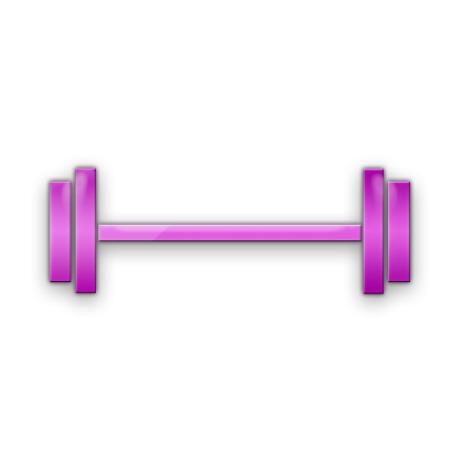 vector black and white stock Dumbbell Clipart Png