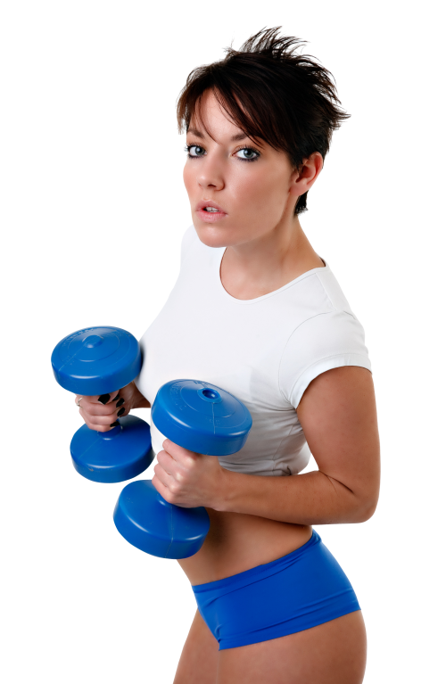 clipart transparent download Young Fitness Woman Exercises With Dumbbell PNG Image